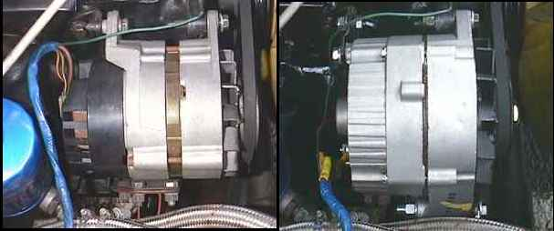 lucas to delco alternator conversion index the old style lucas unit 73 mgbgt and a newer gm delco unit