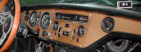 1973 Gt6 Mkiii Big Red 3 Gauge Dash Center Section